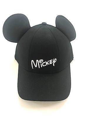 Disney Mickey Mouse Baseball with Ears, Black Youth Kids Hat Cap