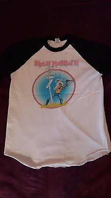 Iron Maiden the beast at reading festival & the usa tour1982 shirt replica copy