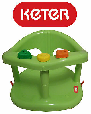Infant Baby Bath Tub Ring Seat KETER New in BOX Color Green