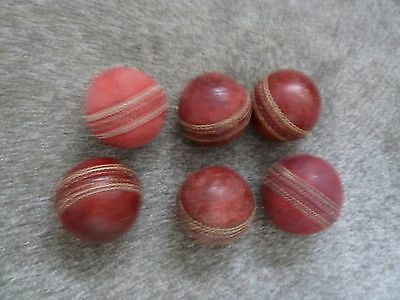 6 x Leather Cricket Balls