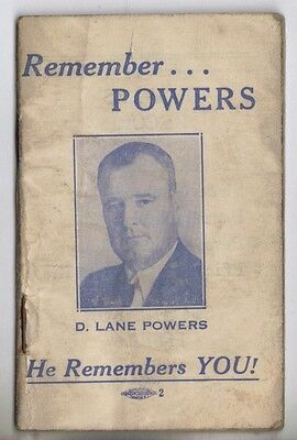 1940 New Jersey D. Lane Powers House Of Reps Political Campaign Address Book