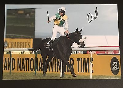 Signed Leighton Aspell & Many Clouds Aintree Grand National Win 2015