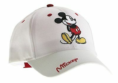 Disney Mickey Mouse Classic Standing Adult Hat Cap White Brand New