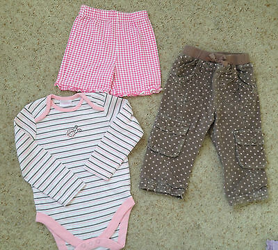 Small Bundle Baby Girls Clothes  Age 9-12 Months Ex Cond