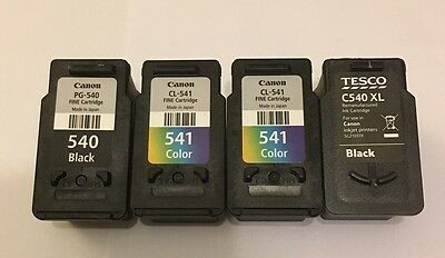 Canon Used Ink Cartridges PG-540 And CL-541 And Tesco C540XL