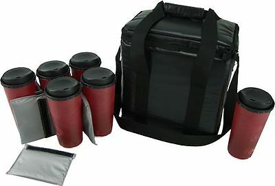 Case of 6 OvenHot Black Beverage Coffee Delivery Bag NEW