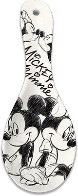 Disney Mickey Mouse Minnie Mouse Sketch Spoon Rest Ceramic New