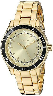 Rampage Watch Gold Dial Gold Toned Bracelet Quartz Women's Watch RP1091GDBK