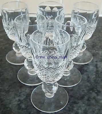 """SET OF 6 superb WATERFORD COLLEEN CRYSTAL cut GLASS 4.25"""" GLASSES"""