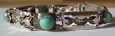 vintage LIBERTY STERLING SILVER BRACELET with JADE NAVAJO decoration CHINESE