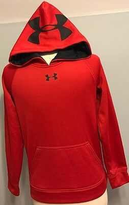 Boy's  Under Armour Red /Black Hoodie Size Youth M