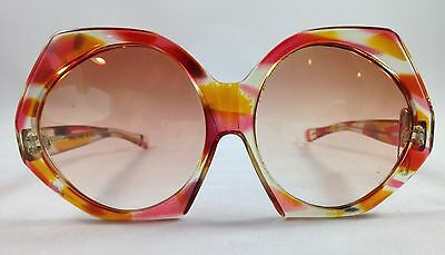 Vintage Oversized Sunglasses Made in France Retro 80s Frames Needs Pin in Frame