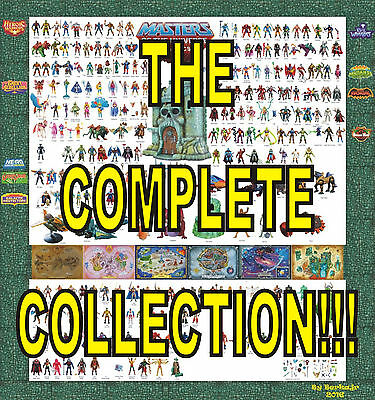 COMPLETE COLLECTION - 232 PIECES!! Masters of the Universe Classics MOTUC He-Man