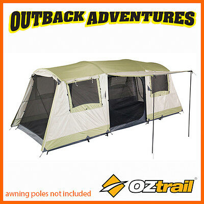 Oztrail Bungalow 9 Dome Tent Family Camping (3 Room) 9P Person New 2016 Model