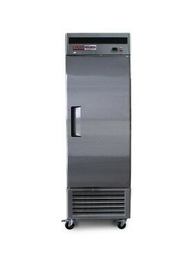 SINGLE 1 DOOR FREEZER reach In COMMERCIAL STAINLESS STEEL  t-23F Bottom One NEW