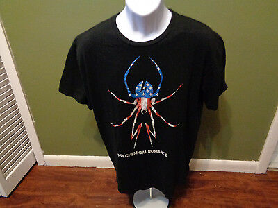 MY CHEMICAL ROMANCE American Flag Spider SLIM FIT  LARGE T SHIRT