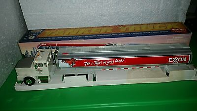 ** 1997 Exxon Toy Tanker Truck Real Head and Tail Lights NIB tiger theme **