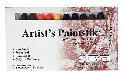 Richeson 121502 Shiva Paintstik Sp Oil Paint Artist Color 12-Piece Profession...