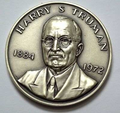 Danbury Mint,Sterling Harry S.Truman 1973 Presidential Commemorative Medal,