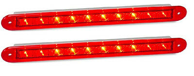 Trailer 2 X Stop/tail Recessed Mount Red Lamp 235 Series 12 Volt Led Autolamps