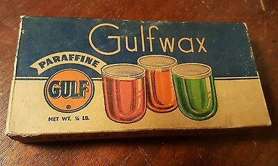Antique canning wax Gulfwax Paraffine