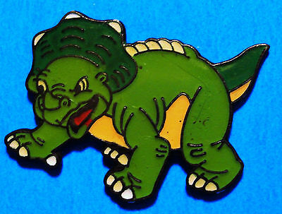 Triceratops - Green Dinosaur Cartoon -The Land Before Time Movie ??- Vintage Pin
