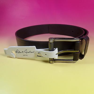 ROBERT GRAHAM Size 30 Belt Brown NEW Genuine Leather NWT Men's