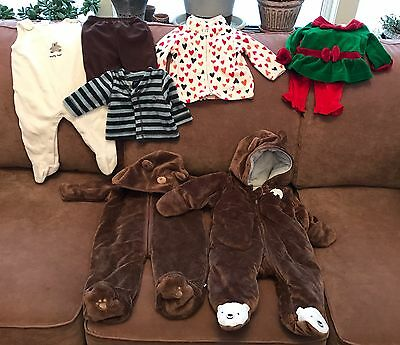 Lot Of Infant Fleece Clothing Range In Size From 0-6 Mos.