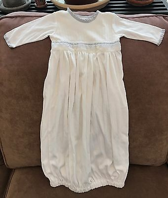 """Beautiful """"baby Beau And Belle"""" Infant Wear 100% Silk Nightgown 0-3 Mos"""