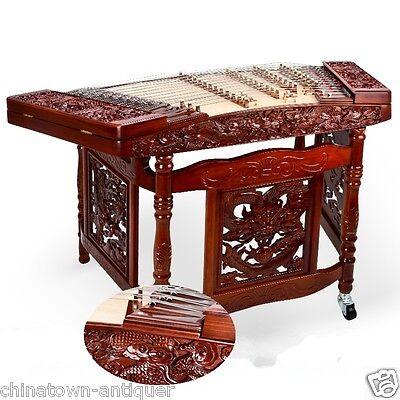 Professional & Beginner Red Aged rosewood 402 Dulcimer YangQin ReliefDragon#4007