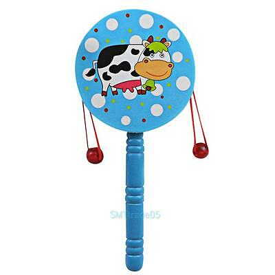 Baby Kids Chinese Traditional Hand Rattle Drum Handbell Child Musical Toys Gifts
