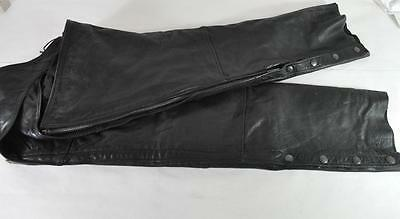 FIrst Xpert Performance Gear: Leather Motorcycle Chaps, size XL