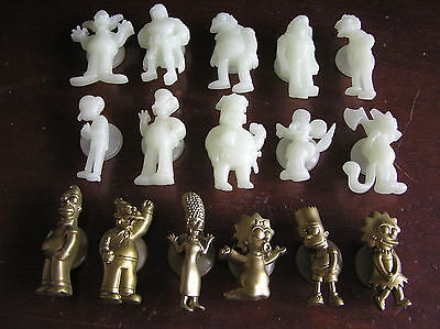 Simpsons stick ems Tazos pickers pog cap full set gold and glow figure toy