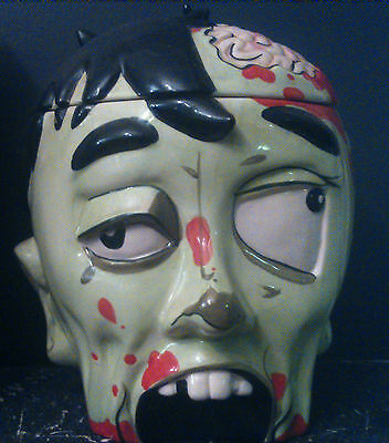 Zombie Head Cookie Jar - RARE! Think Geek - Collectible - Ceramic