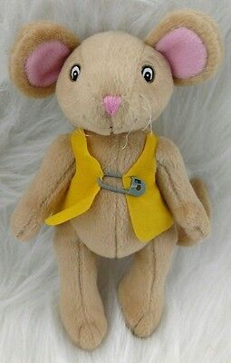 "8"" Angelina Ballerina Cousin Henry Plush Doll Sababa Toys Mouse Yellow Vest A"