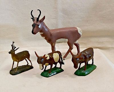 FOUR VERY RARE ANTIQUE GRULICH WOOD CARVINGS CARVINGS 1870's - 1890'S