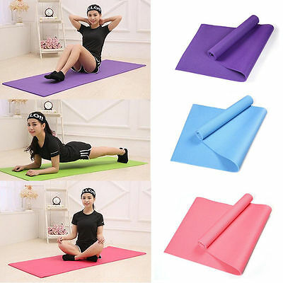Durable 6mm Yoga Mat Non-slip Thick Exercise Pad Health Lose Weight Fitness