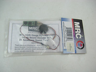 MRC HO or N-Scale DCC Synchronized Steam Sound Decoder #1639, Speaker included