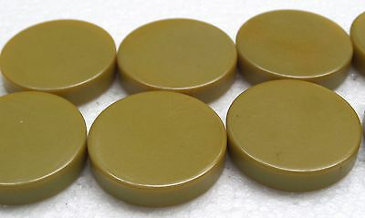 "Vintage LOT 10 Catalin Backgammon Light Green 1"" Jewelry Crafts by Bakelite"