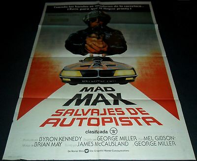 1979 Mad Max ORIGINAL SPAIN POSTER Mel Gibson Post Apocalyptic