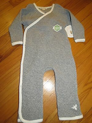 Burts Bees Baby Outfit -Quilted- Organic Cotton Size 12m NWT