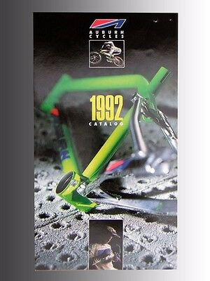Collectable 1992 AUBURN CYCLES bicycle, product catalog, new product line