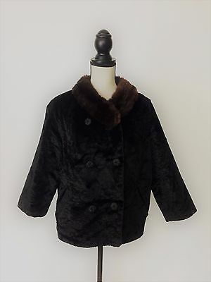 Vintage 1950s Fur Jacket Styled by Winter Size Large