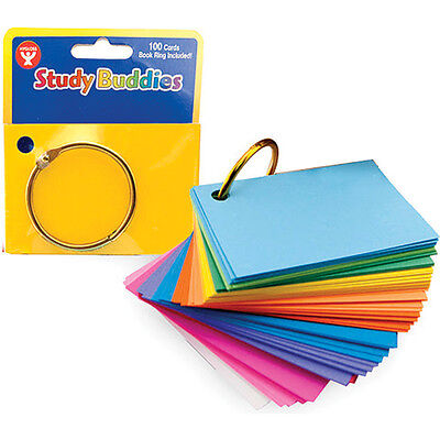 "Study Buddies 2""X3"" 100/Pkg Assorted Bright Colors 53510"