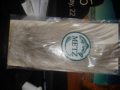 #1 Metz Light Blue Dun rooster saddle for fly tying.