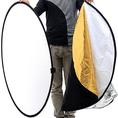 """43"""" 110cm 5 in 1 Photography Photo Light Mulit Collapsible Disc Reflector Set"""