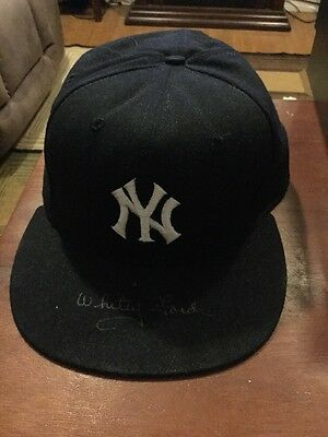 New York Yankees HOF Whitey Ford Autograph Hat With Box And Paperwork