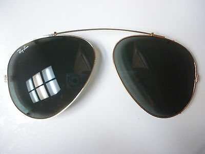 Great Condition Vintage B&L Ray Ban U.S.A. Aviator Sunglasses Clip-On