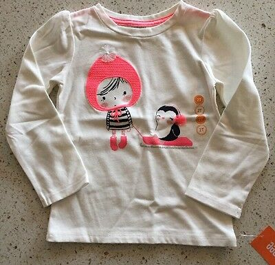 Gymboree Girls Winter Themed Long Sleeve Shirt Size 2T NWT