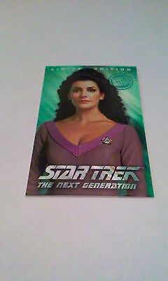 Dave And Busters Deanna Troi Foil Card Star Trek Coin Pusher!